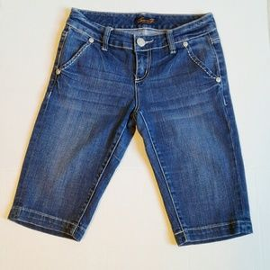 Seven7 Denim Bermuda Shorts Size 4